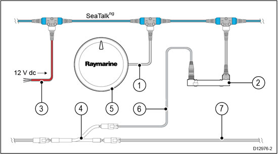 Yamaha Engine Connection Raymarinerhraymarinefi: Raymarine Seatalk Wiring Diagram At Gmaili.net