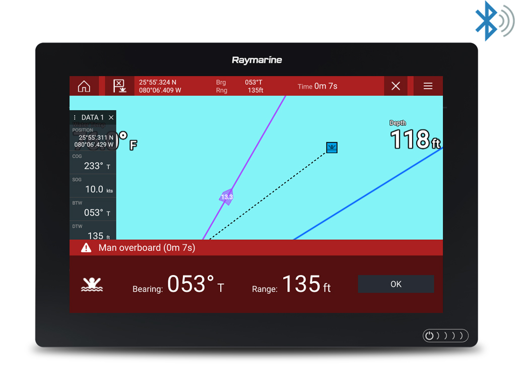LightHouse 3.5 - Bluetooth-hälytys ulos | Raymarine - A Brand by FLIR